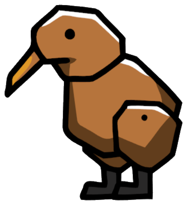 File:Kiwi Bird.png - Cartoon Kiwi Bird PNG