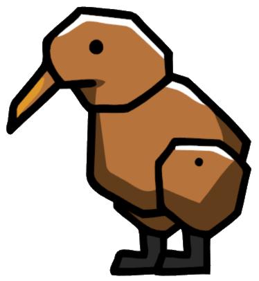 Cartoon Kiwi Bird PNG - 89044