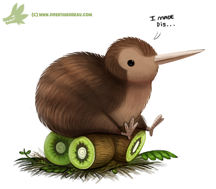 Kiwi Bird by Cryptid-Creations PlusPng.com  - Cartoon Kiwi Bird PNG