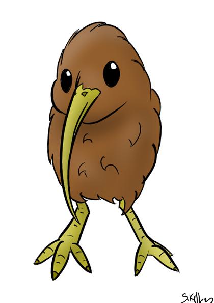 Cartoon Kiwi Bird PNG - 89031