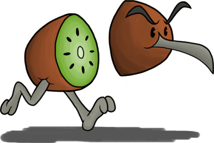 Kiwi Bird.. PlusPng.com get it? by joffeorama PlusPng.com  - Cartoon Kiwi Bird PNG