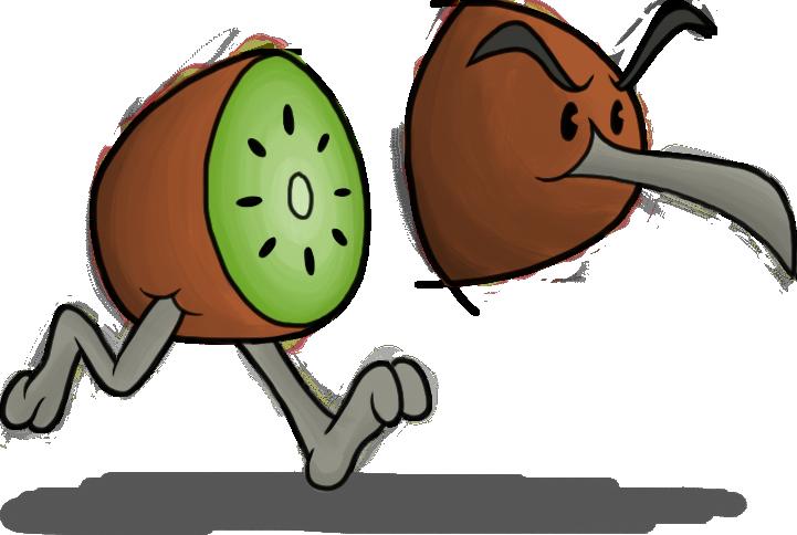 Cartoon Kiwi Bird PNG - 89036