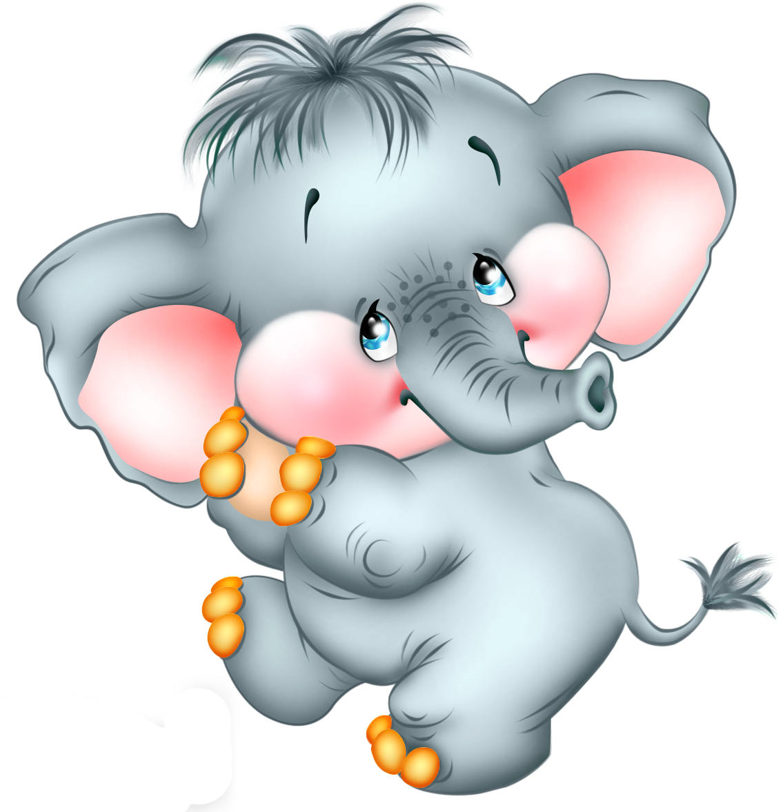 Cute Cartoon Elephant Free PNG Picture - Cartoon PNG