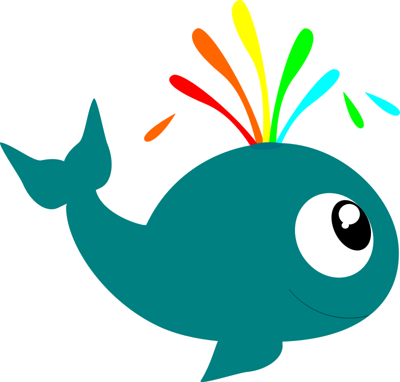 Whale sea creatures clip art image 7 - Cartoon Sea Creatures PNG