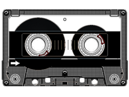 Cassette Tape iPhone decals skins - Casette HD PNG
