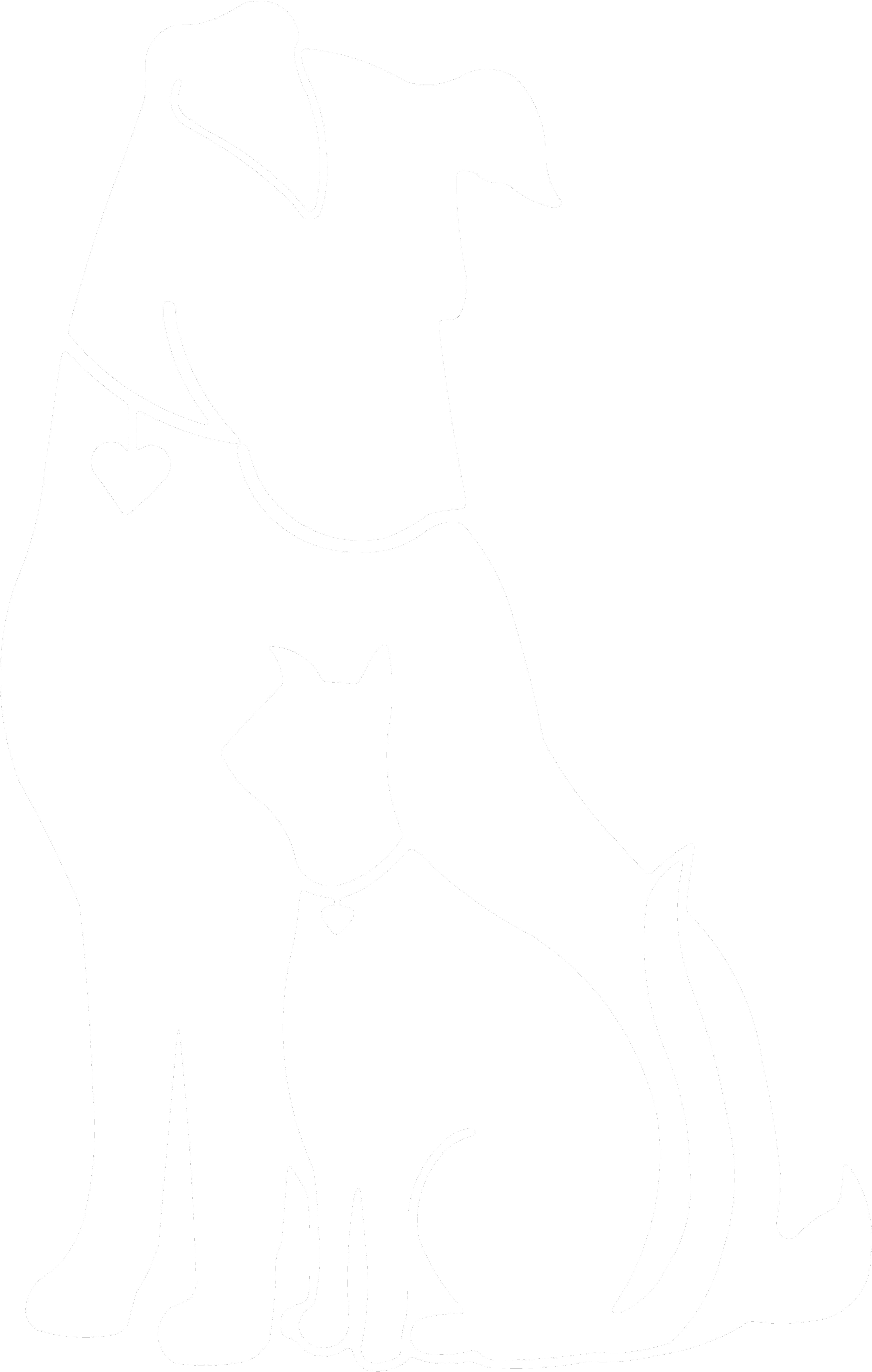 Cat And Dog PNG Black And White - 161512