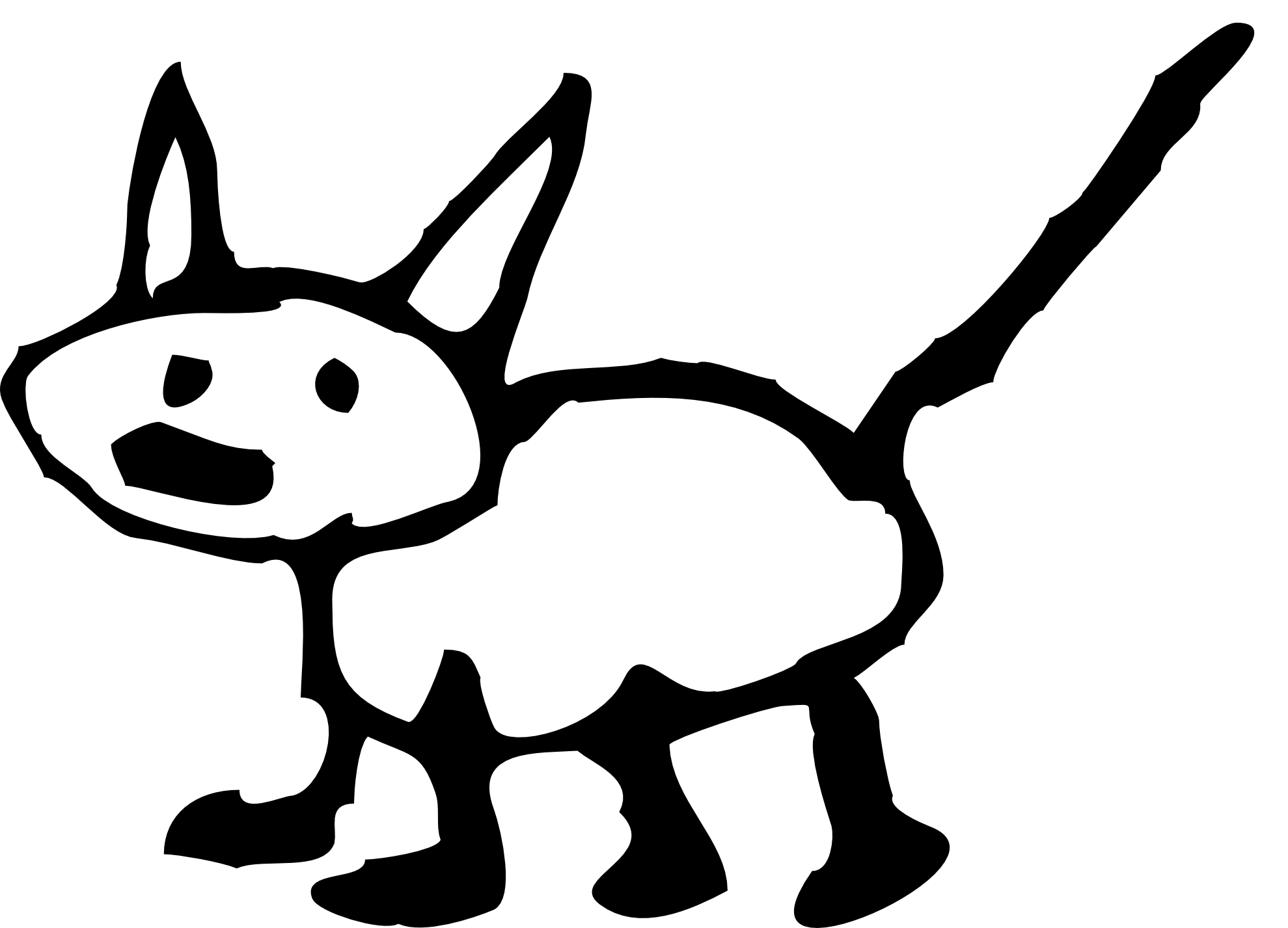 Clipart Info - Cat And Dog PNG Black And White