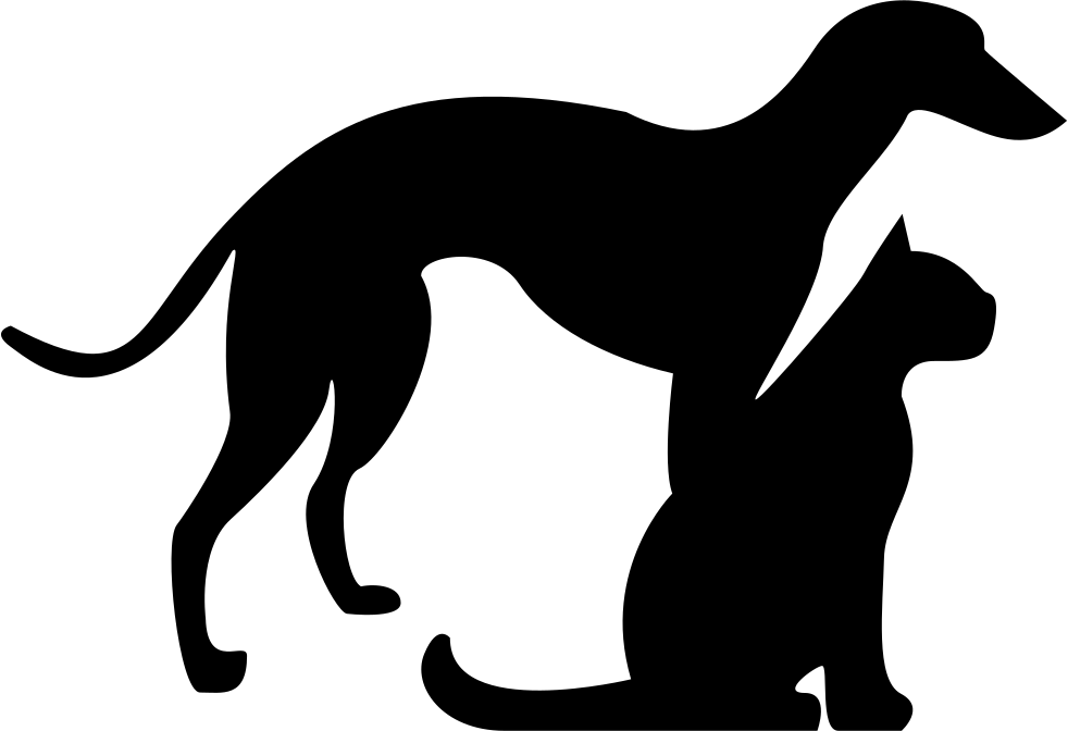 Cat And Dog PNG Black And White - 161513