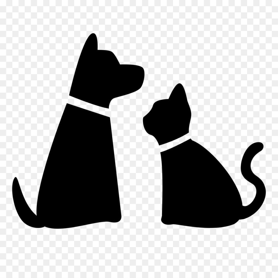 Pet sitting Dog Cat Puppy - dog and cat - Cat And Dog PNG Black And White