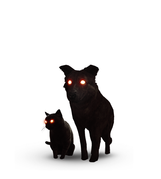 Tw3 journal black cat and dog.png - Cat And Dog PNG Black And White