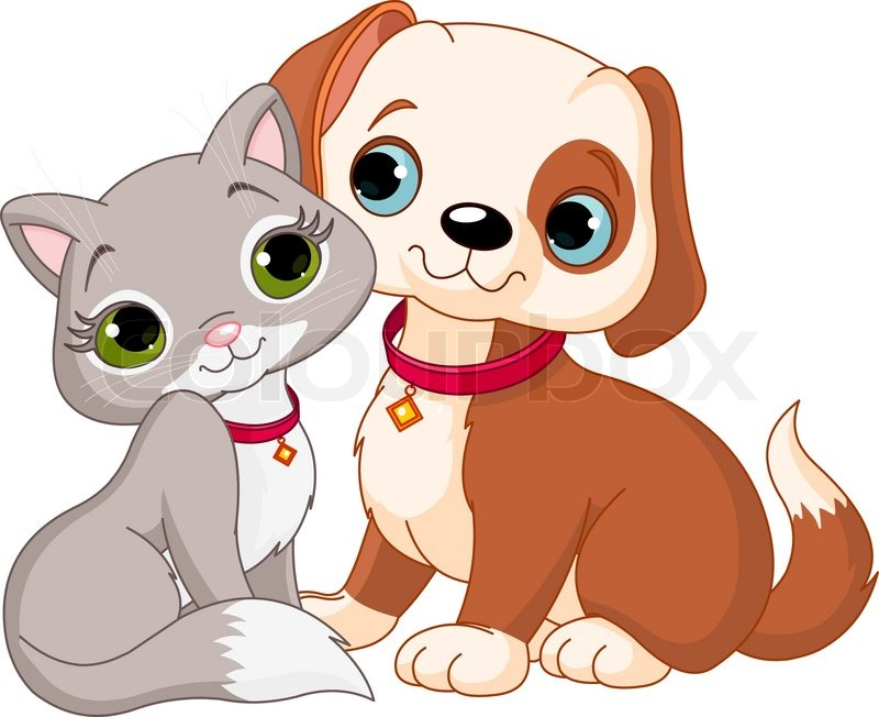 Dog and Cat Best Friends Ever, vector - Cat And Dog PNG No Background