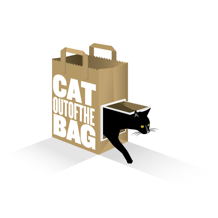 Cat out of the bag productions - Cat In A Bag PNG