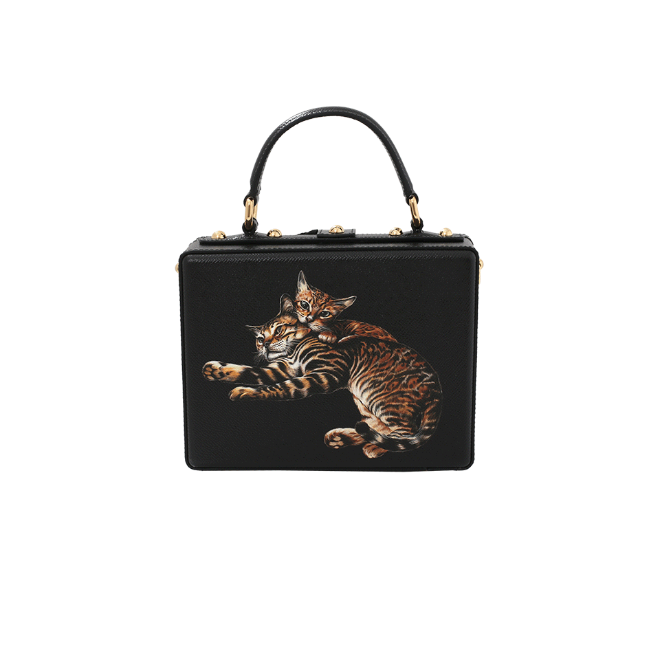 Du0026G Cat Print Box Bag | Marissa Collections - Cat In A Bag PNG