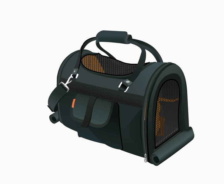 . PlusPng.com pet Carrier with Screen top - Cat In A Bag PNG