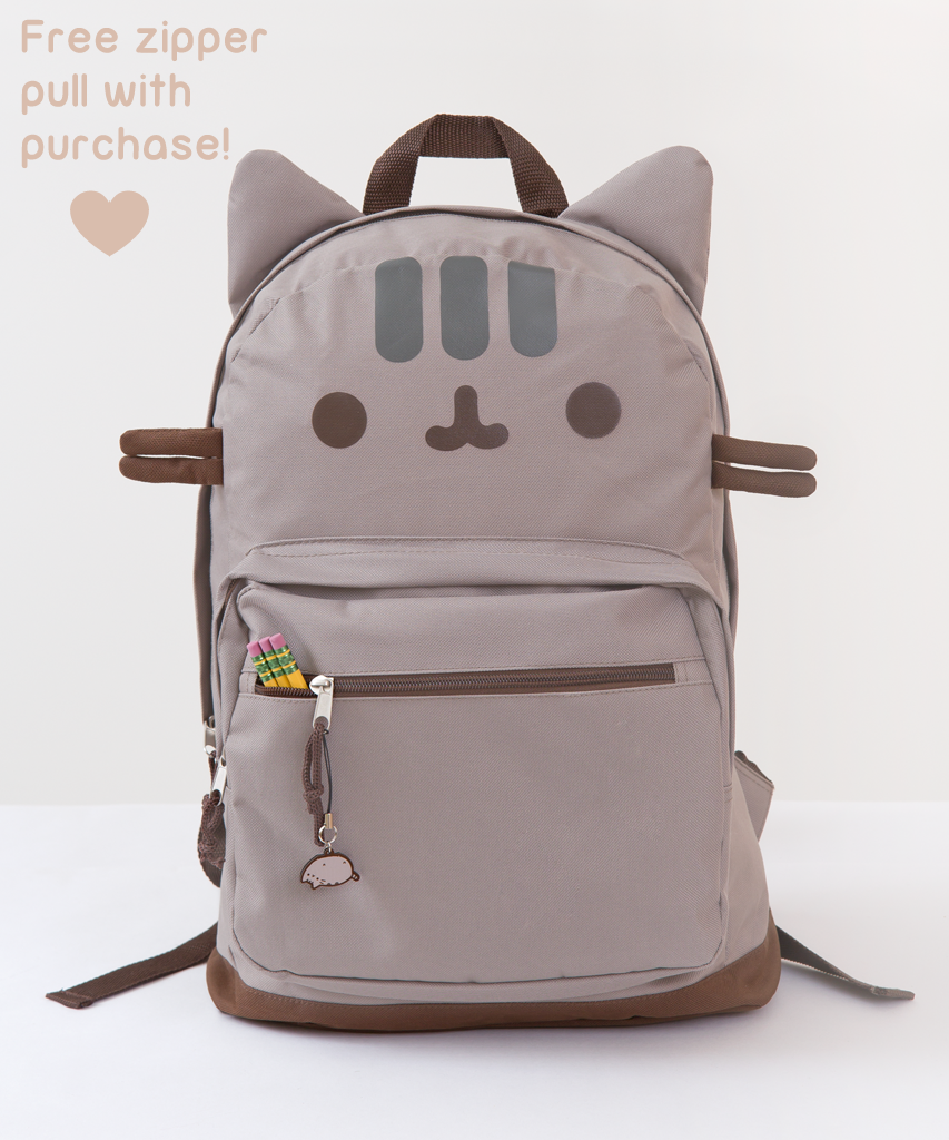 Pusheen the Cat backpack - Cat In A Bag PNG