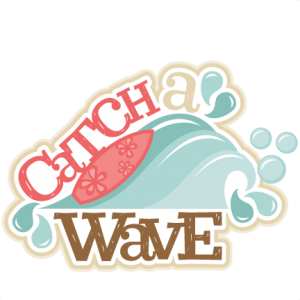 Catch a Wave Title SVG scrapbook cut file cute clipart files for silhouette  cricut pazzles free svgs free svg cuts cute cut files - Catch A Wave PNG