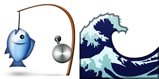 Guess Up Emoji Catch A Wave - Catch A Wave PNG