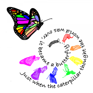 Caterpillar Into Butterfly PNG - 157049