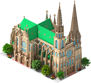Chartres Cathedral.png - Cathedral PNG