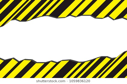 border yellow and black color. - Caution Tape PNG Border