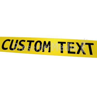 Custom Caution Tape PowerPoint Clip Art - Caution Tape PNG Border