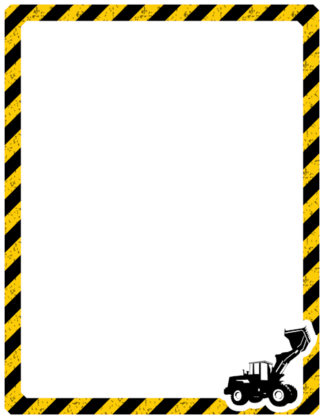 Free construction border templates including printable border paper and  clip art versions. File formats include GIF, JPG, PDF, and PNG. - Caution Tape PNG Border