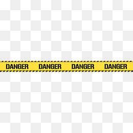 hand painted yellow danger warning belt - Caution Tape PNG Border