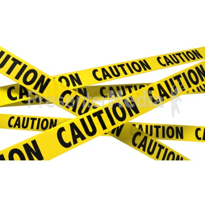 ID# 8535 - A Wall Of Caution Tape - Presentation Clipart - Caution Tape PNG Border