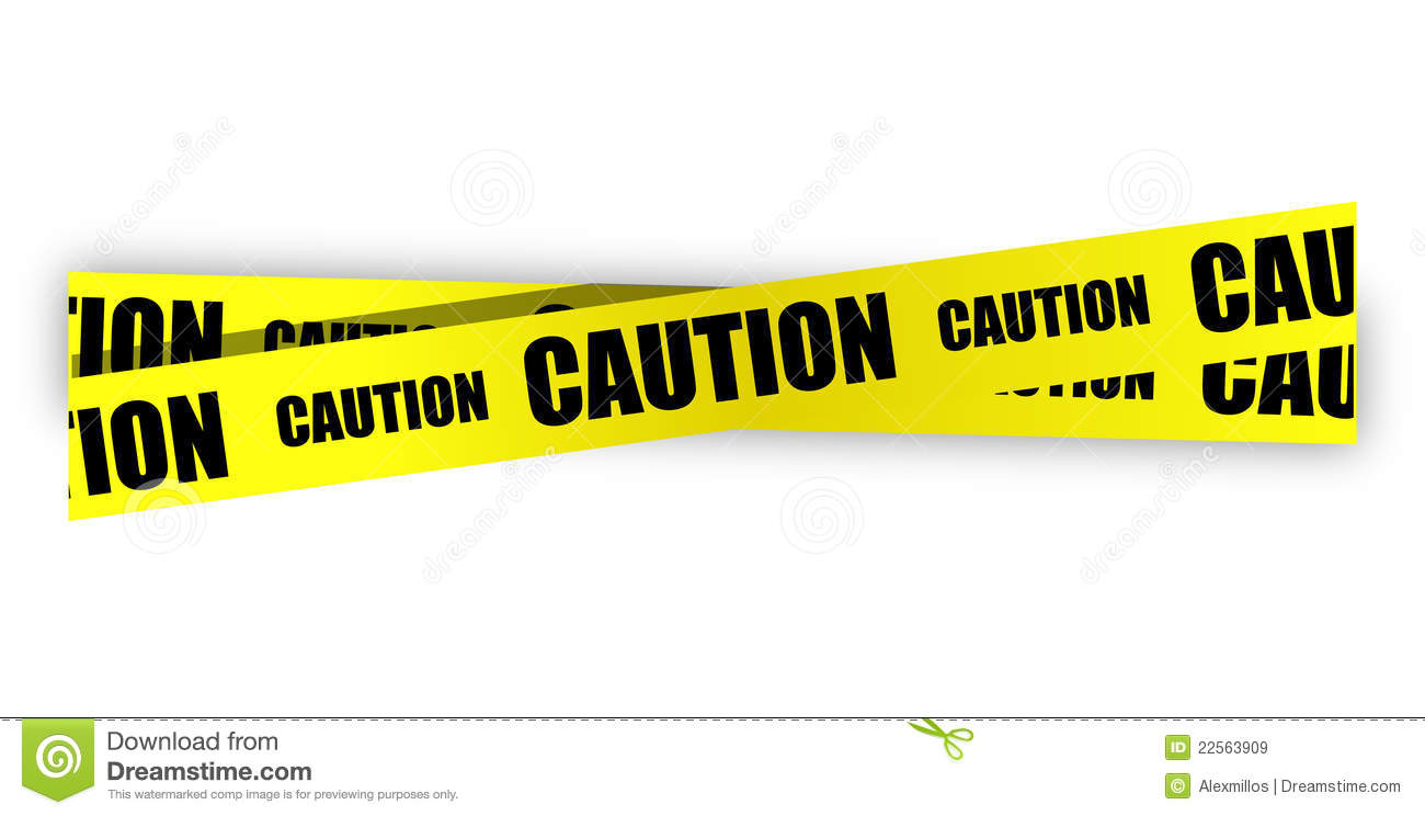 Yellow caution tape illustration design - Caution Tape PNG Border