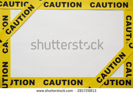 Yellow Caution tapes on white background - Caution Tape PNG Border