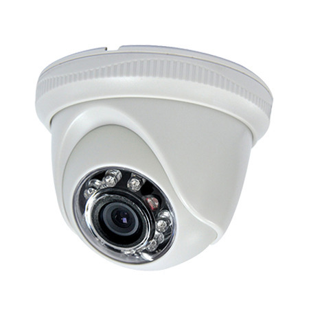 Dome CCTV camera installation