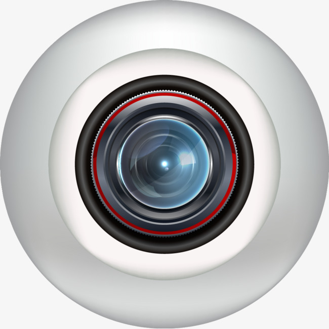 Vector electronic eye, Cctv, Glasses, Camera PNG and Vector - Cctv Camera Images PNG
