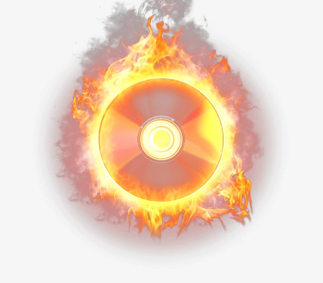 Fire HD disc image, Flame, Music Cd, Smoke Free PNG and PSD - Cd HD PNG