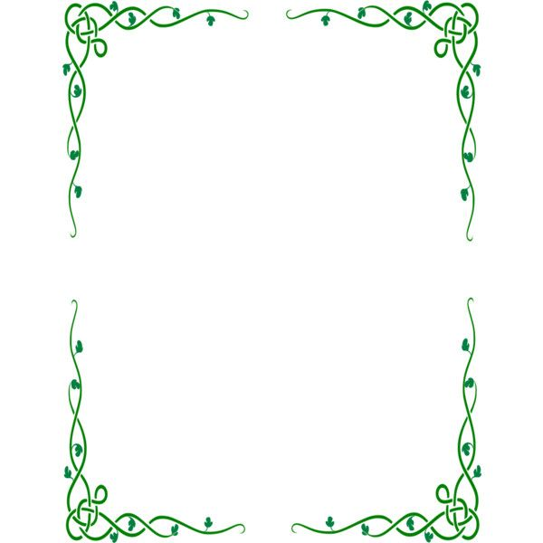 celtic vine border -. PlusPng.com ❤ liked on Polyvore featuring frames, backgrounds, - Celtic Border PNG HD