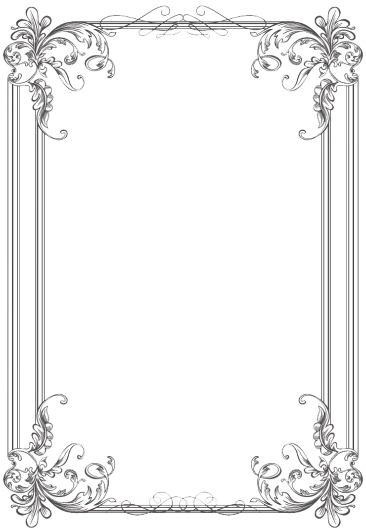 Free black Clip Art Borders and Frames weddings | Custom Vintage Frame Four  by kingoftheswingers - Celtic Border PNG HD