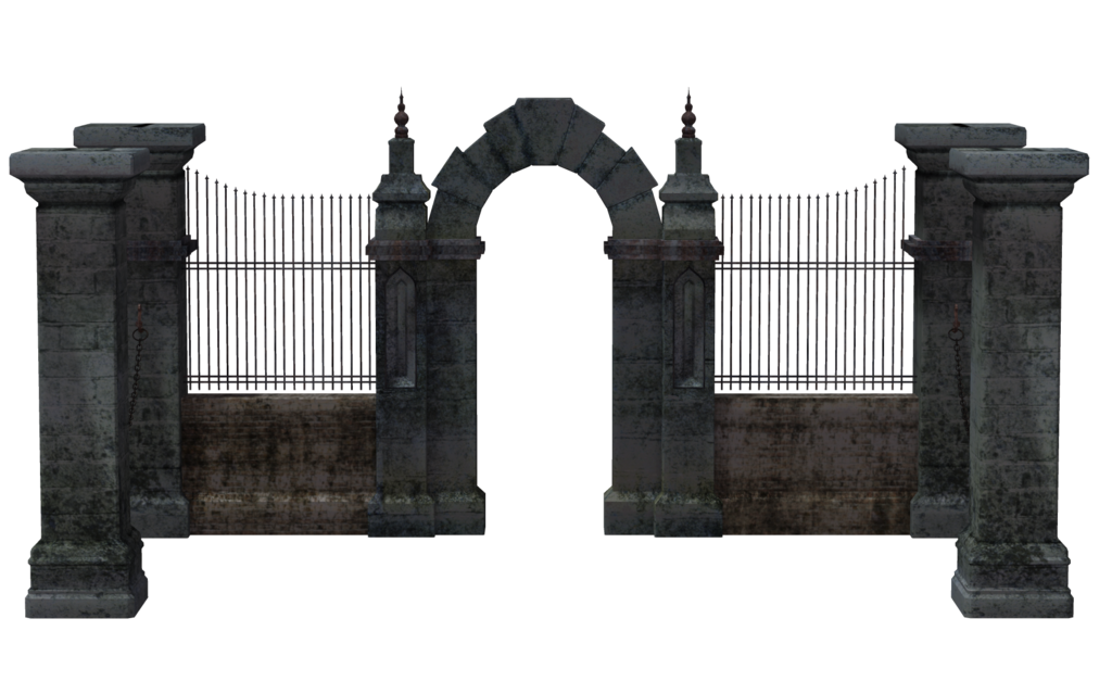 Cemetery Gates PNG-PlusPNG.com-1024 - Cemetery Gates PNG