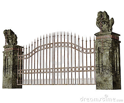 Cemetery Gates PNG-PlusPNG.com-400 - Cemetery Gates PNG
