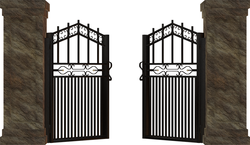 Cemetery Gates PNG-PlusPNG.com-960 - Cemetery Gates PNG