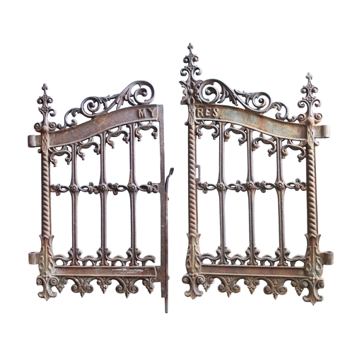 Cast Iron Victorian Cemetery Gate - Cemetery Gates PNG
