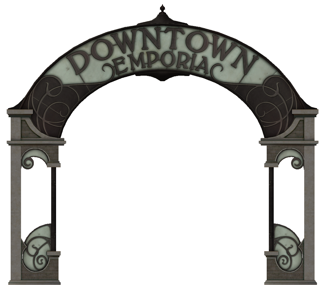 Downtown Emporia sign.png - Cemetery Gates PNG