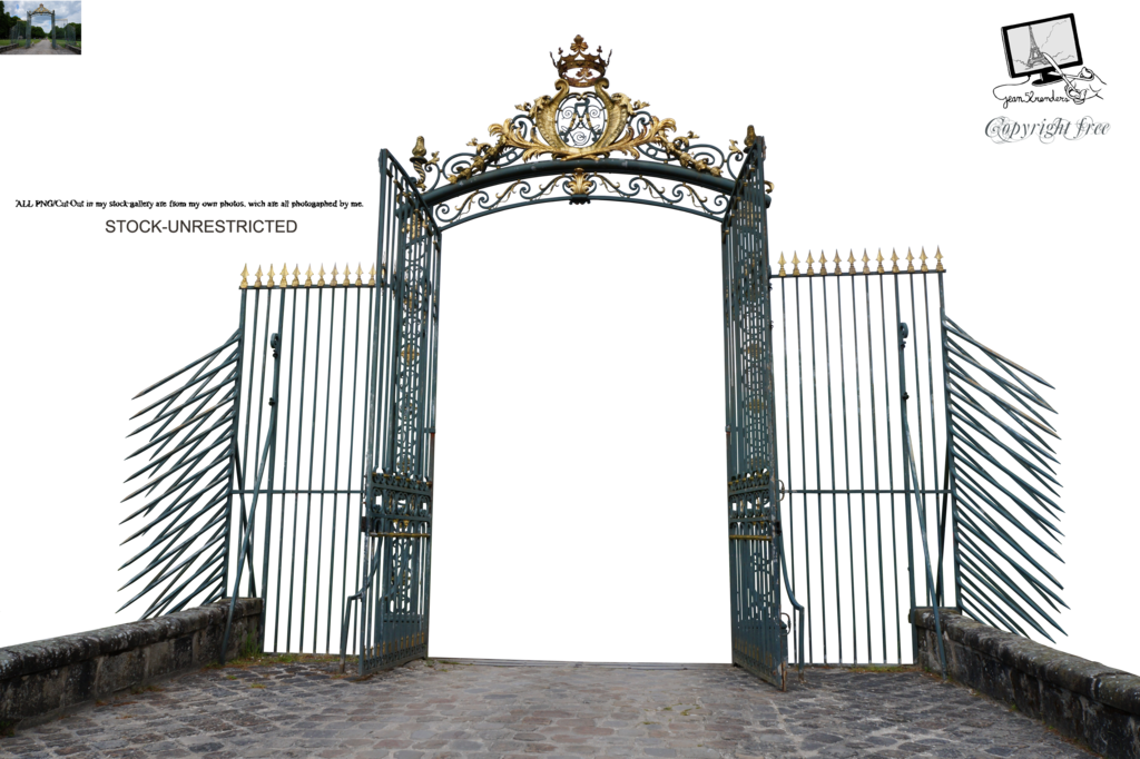 Gate castle of Chamarande 1 PNG by Jean52 PlusPng.com  - Cemetery Gates PNG