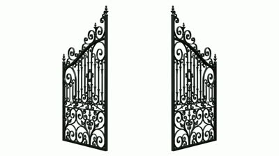 Gate clipart open gate #1 - Open Gate PNG - Cemetery Gates PNG