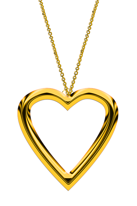 Heart, Chain, Love, Gold, Jewellery, Trailers, Golden - Chain HD PNG