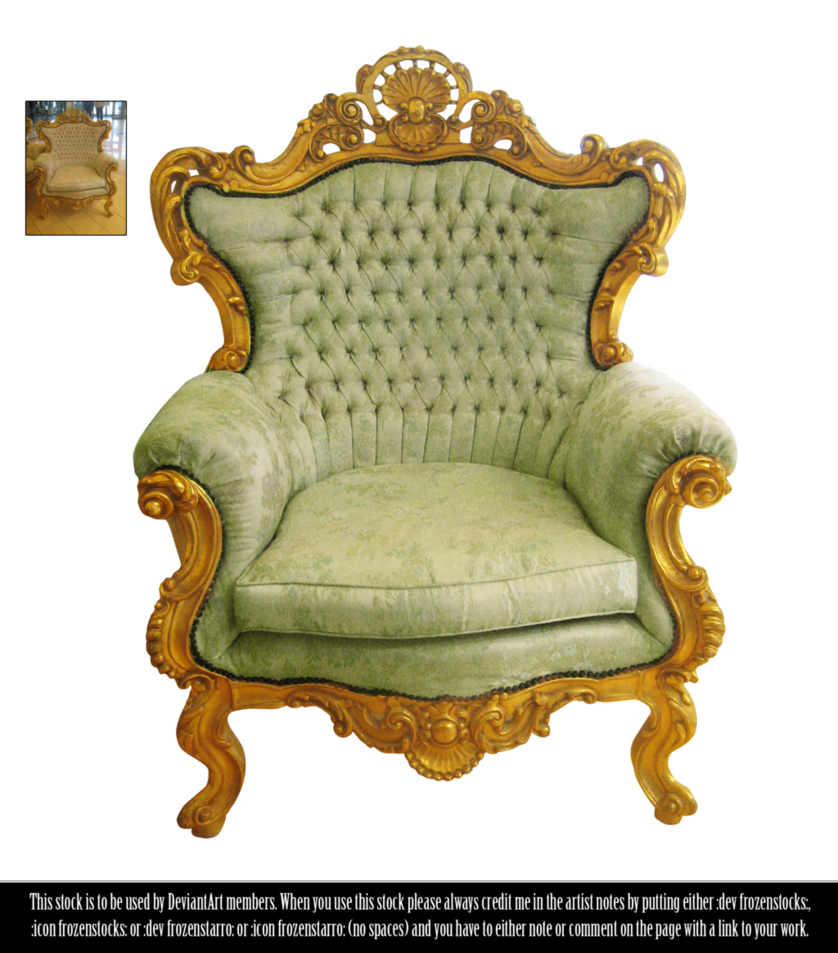 RESTRICTED - Victorian Chair by frozenstocks PlusPng.com  - Chair HD PNG