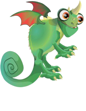 Chameleon Dragon 3c.png - Chameleon PNG