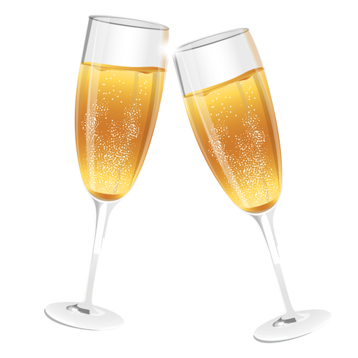 Champagne glasses - Champagne PNG