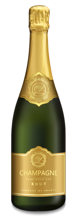 Champagne, Bottle Of Champagne, Glass - Champagne HD PNG