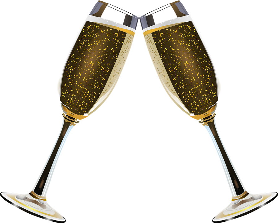 Champagne, Clink Glasses, Alcohol, Bubble, Bubbles - Champagne HD PNG