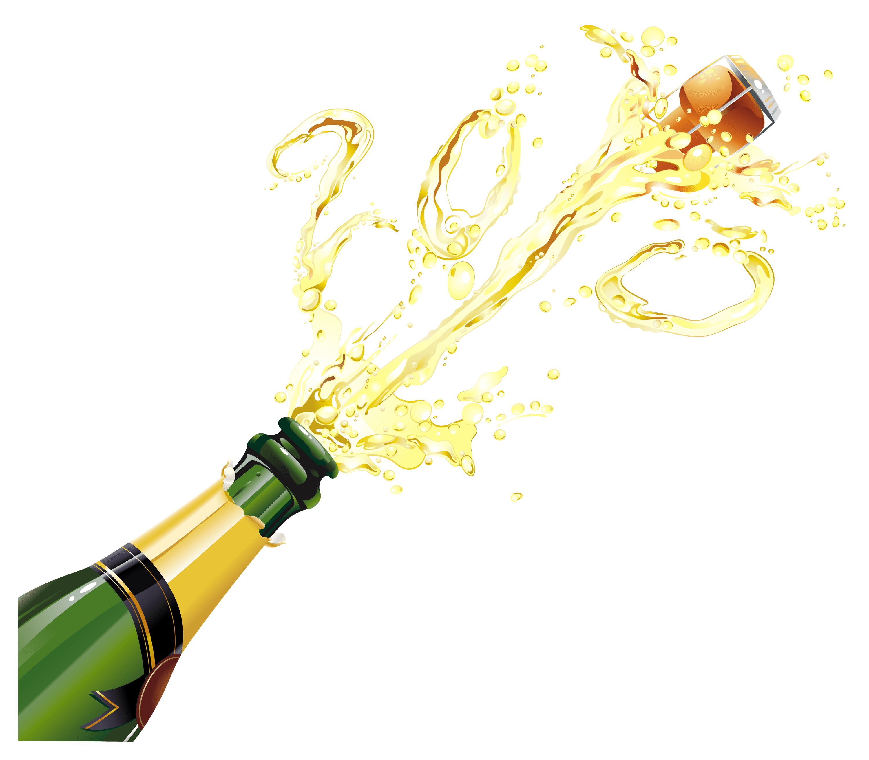 Champagne Pop - Champagne HD PNG