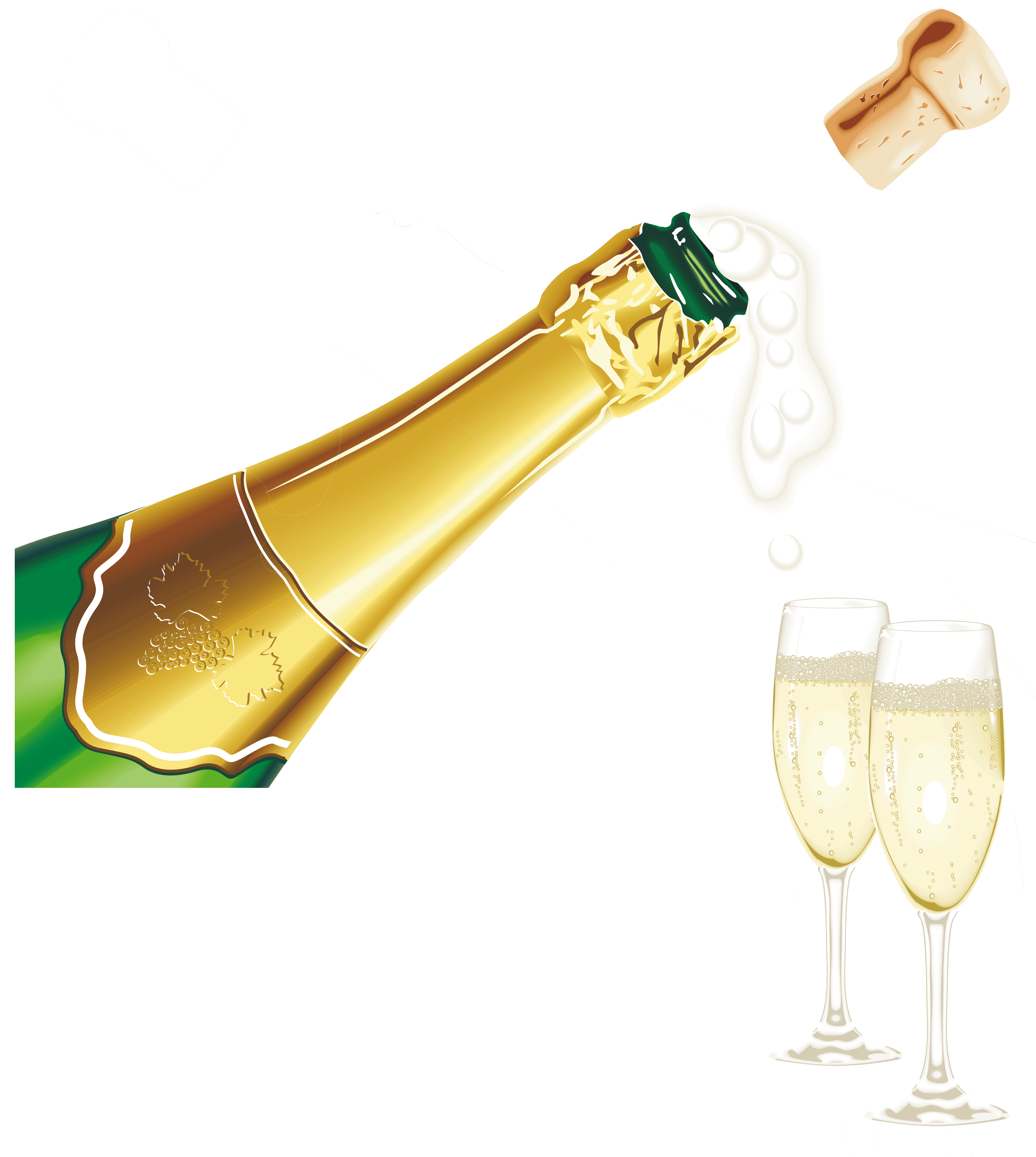 Champagne Popping PNG Pic - Champagne HD PNG